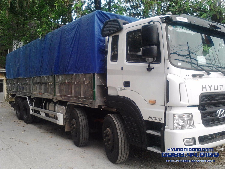 Hyundai HD320 xe tải 4 chân Hyundai